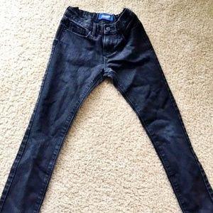 Girl's Old Navy skinny/adjust black jeans